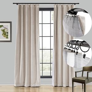 rod pocket curtain, flat hook curtains