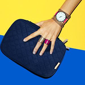 blue travel jewelry organizer