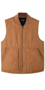 Men's Arctic-Quilt Lined Duck Vest