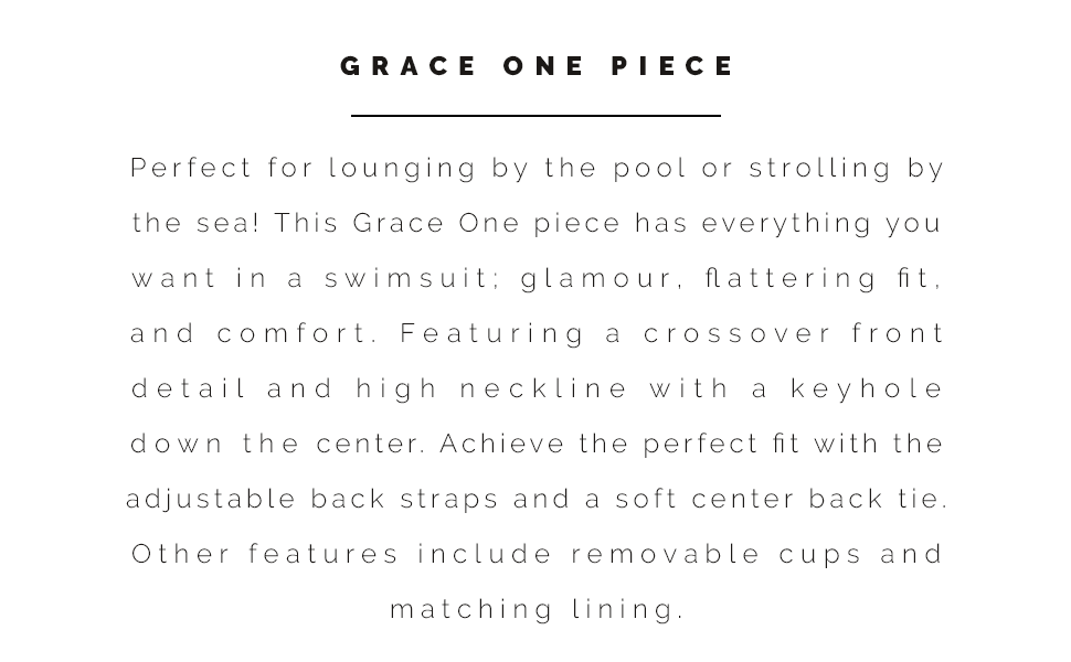 Sunsets Grace One Piece information and style description.