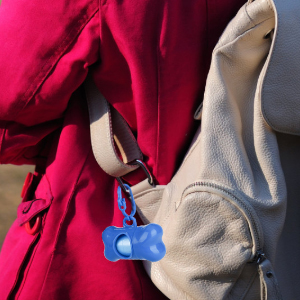 Our dispenser with carrying clip can attach to your backpack or buckle