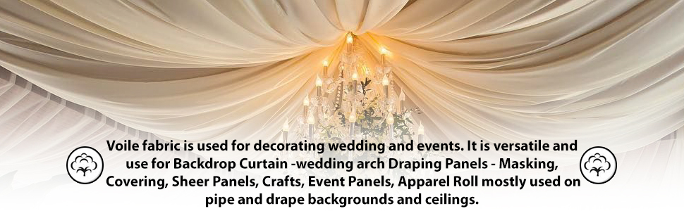 Voile Fabric is used for decorating wedding events