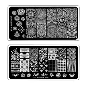 Store2508 Super Value Combo Kit of Nail Art Tools – 3d Nail Art, Nail Stamping Image Plates,