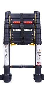 12.5 ft telescoping ladder telescopic ladder extension Aluminum ladder