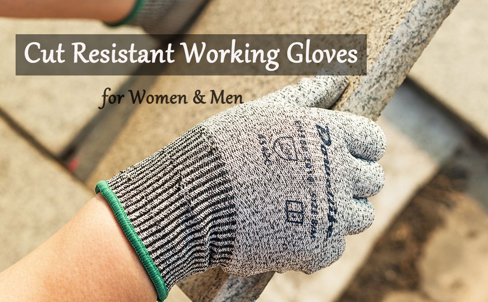 Cut resistant garden working gloves for women men