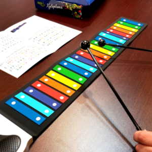 xylophone,potable xylophone,flexible xylophone,electronic xylophone,rainbow xylophone,play by color