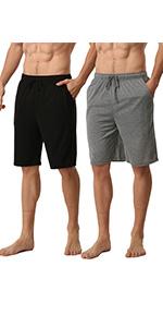 2Pack Mens Modal Pyjamas Shorts