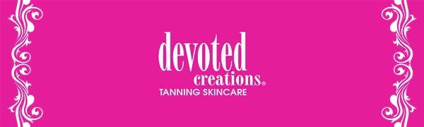devoted creations opalescent lotion tanning logo cream dark suncare skincare moisturizer salon bed