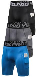 Amazon Com Lavento Pantalones Cortos De Compresion Para Hombre Clothing
