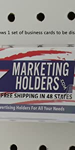 Marketing Holders Business Card Holder Clear Pegboard