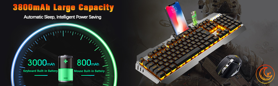 Built-in Rechargeable 6 Months Battery CNC Machine External Keyboard Waterproof Design for Game Office Compatible Computer Bluetooth Keyboard