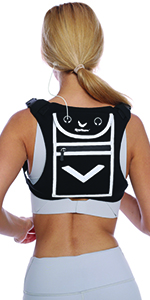 running fitness mini backpack vest reflective high visibility night time