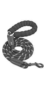 Strong Dog Leash with Comfortable Padded Handle for Medium Large Dogs