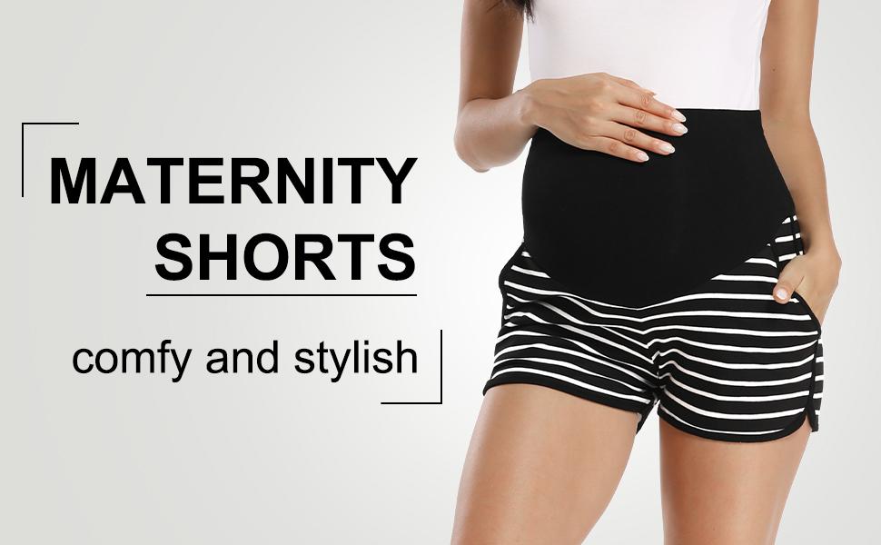 maternity shorts yoga lounge home summer shorts