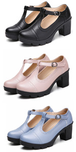 Women's Platform Mid-Heel Oxfords Dress Shoes