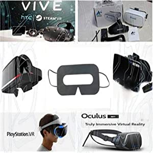 VR Mask for such as HTC Vive, Oculus Rift, Gear Virtual Reality, Google Cardboard, etc.VR Headset  100 Pack Sanitary VR Mask Disposable Face Cover Mask Hygiene VR Pads Prevent Eye Infections for HTC Vive, PS VR, Gear VR Oculus Rift, etc. (White) d296d23d ce82 4175 91d7 34f61c359a45