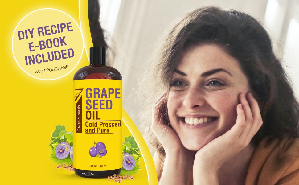grape seed oil natural clean carrier oil pure cold pressed diy