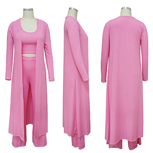 Pink 3 Piece Outfit For Women