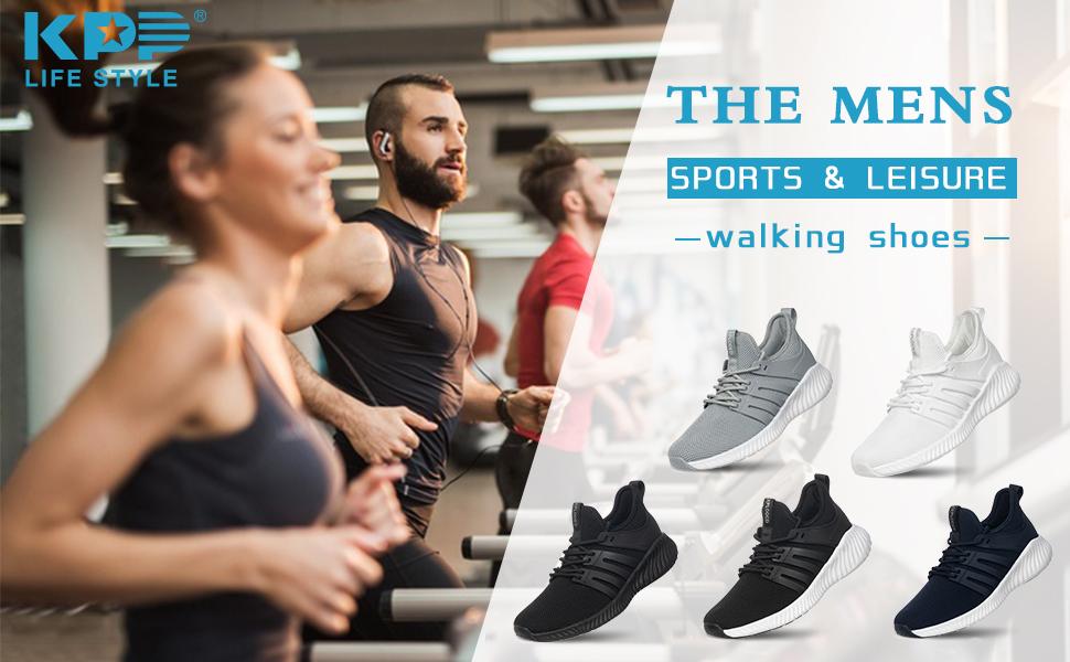 KPP mens walking sneakers