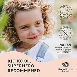 Royal Locks Curl Gel with Marula Oil Key Ingredients
