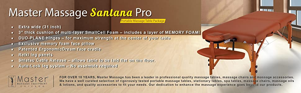 "Master Massage 31"" Santana LX Portable Massage Table"