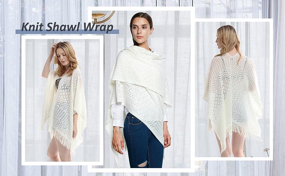 knit shawl wrap