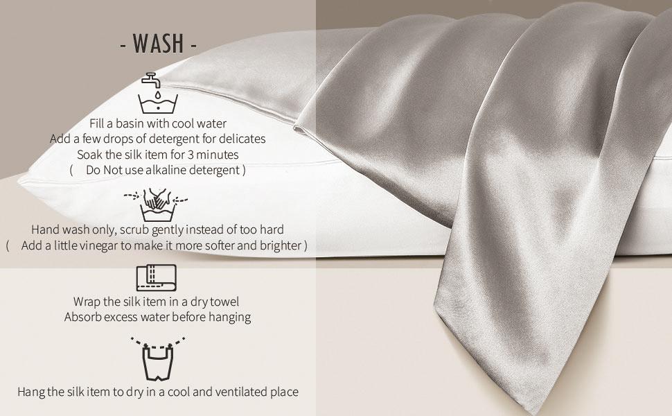king size silk pillowcase washing tip