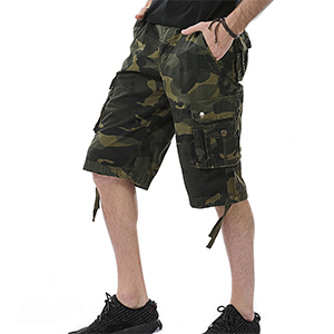 mens camo cargo shorts