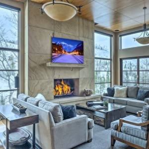 Telluride Colorado living room staging contemporary modern home decor ski resort luxury decoration