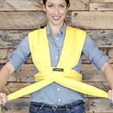 Mains Libres Couverture de Portage Taille Unique Flexible Echarpe de Portage CuddleBug Rouge Porte B/éb/é jusqu/'/à 16kg Cadeau Naissance Douce