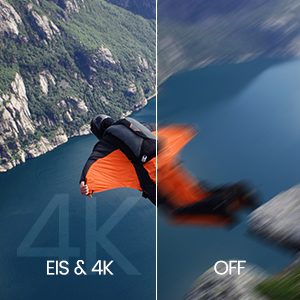4K CAMERA WITH ELECTRIC IMAGE STABILIZATION