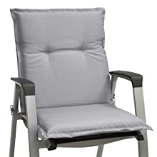 Beautissu Set de 6 Cojines para sillas de Exterior, tumbonas, mecedoras o Asientos con Respaldo bajo Base NL 100x50x6 Placas compactas de gomaespuma - ...