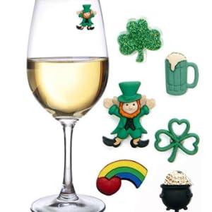 St Patricks Day Wine Charms