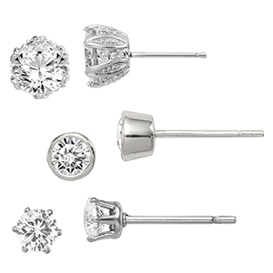 Diamond Stud Earring White Gold Product Image_300x300