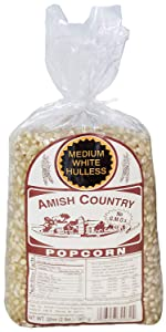 Medium White Popcorn Kernels Amish Country Old Fashioned Stovetop Microwave