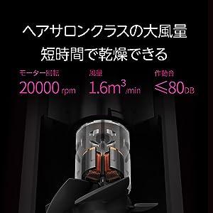 zhibai HL505 マイナスイオン ヘアドライヤー