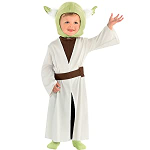 baby yoda jedi wars classic movie character halloween costume outer space cosplay dress up fun cute