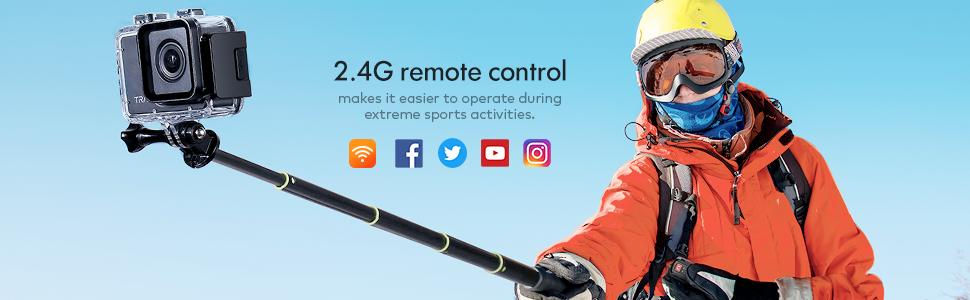 remote  control action camera