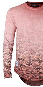 ZIMEGO Mens Short Sleeve Crew Neck Button Henley Pocket Oil Wash Vintage T Shirt DSFST02-FBMerchant