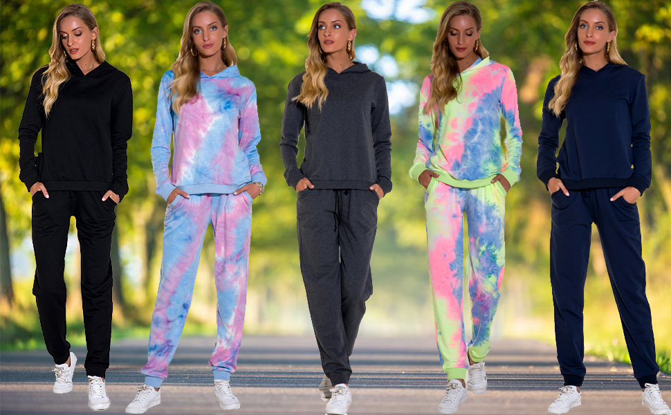 Women Sweatsuits Casual Tracksuits Activewear Sets -3
