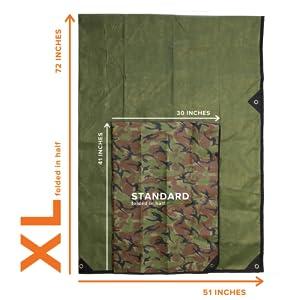Survival Blanket XL comparison