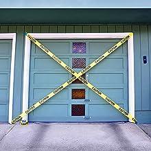 caution tape roll yellow halloween duct police barricade construction zone floor danger do not cross