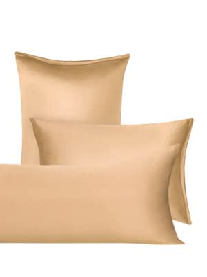 uxcell/® Satin Body Pillow Cover 21x48 Long Pillow Protector Covers with Zipper Closure Brown Silky Body Pillowcases for Hair and Skin