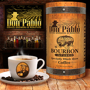don pablo bourbon infused coffee beans unique gift item