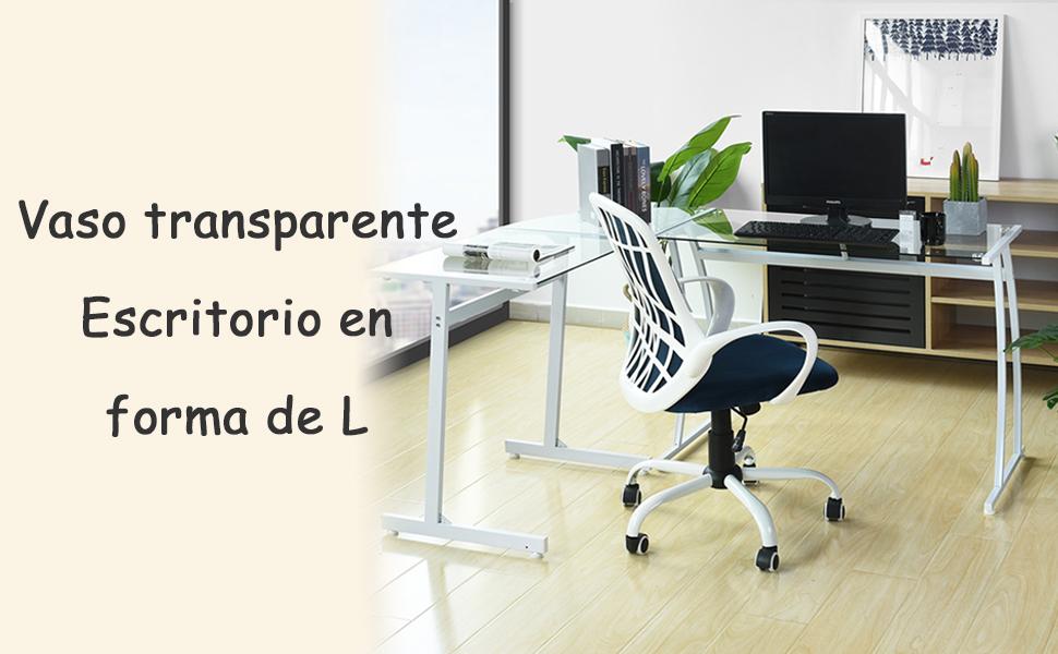 Coavas Escritorio en L Mesa de Ordenador Esquinero para Despacho ...