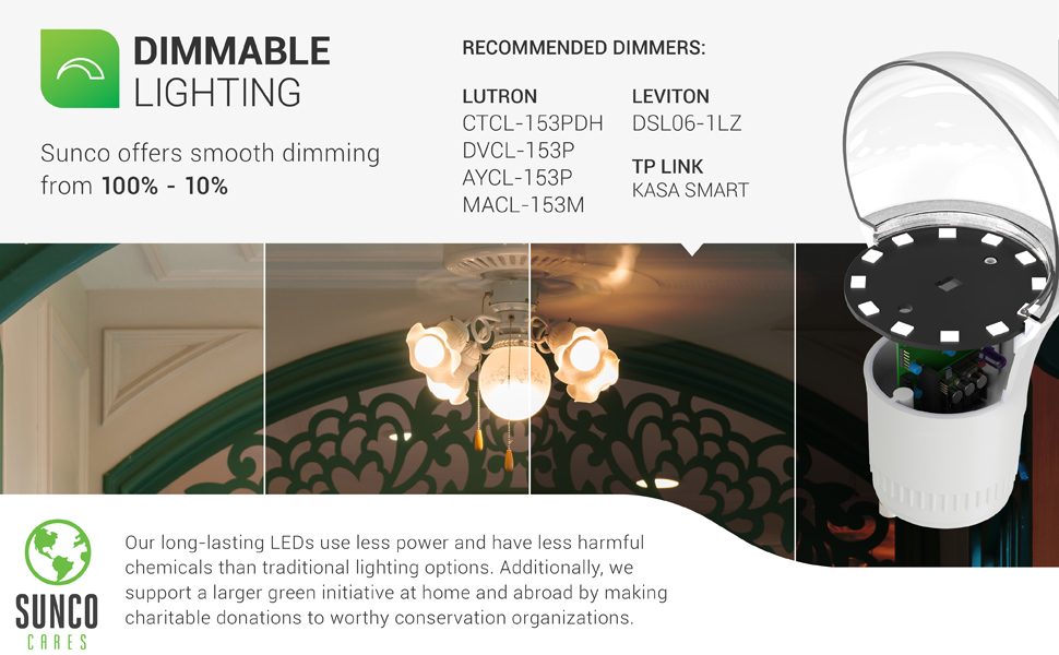 A19 LED Bulb Dimmable Twist and Lock GU24 Pin Indoor Light