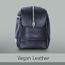 Premium vegan leather toiletry bag