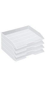 Acrimet Stackable Letter Tray Side Load Solid White