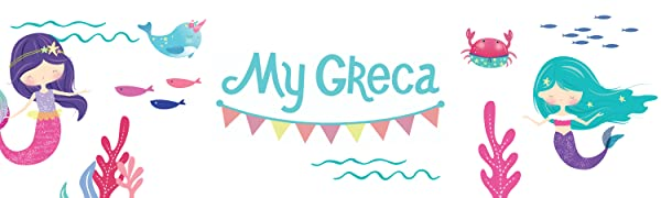 My Greca party supplies mermaid scales decorations for kids