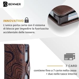 mini wallet rfid protection porta badge porta bancomat lusso lux porta foglio anti frode
